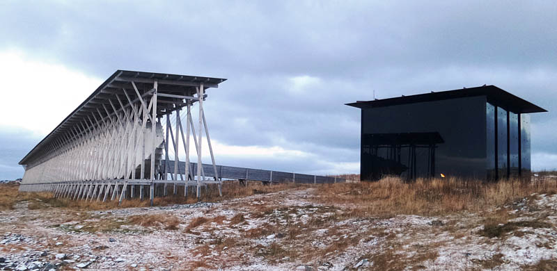 Steilneset Memorial for the Victims of the Witch Trials by Peter Zumthor in 2011.